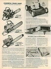 1965 ADVERTISEMENT Clinton Chief Lancaster Logger Super Chain Saw Gas Gasoline