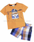 Petit Lem Baby Boy's Plaid Shorts and T-shirt Retro Road, Sizes 12M, 18M, 24M