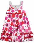 Deux par Deux Girl's Poppy Print Dress Mlle Coquelicot, Sizes 3, 4, 5, 6