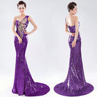 One Shoulder Shining Sexy Homecoming Cocktail Party Gowns Evening Wedding Dress