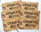 Hang Tags  GRUNGY CHOCOLATE BUNNY TAGS #T25  Gift Tags