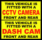 Packs Of  - This Vehicle Fitted With CCTV / Dash Camera Window Stickers  2 Sizes
