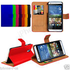 8 Colour Genuine Leather Stand Wallet Flip Phone Case Cover For HTC Desire 620