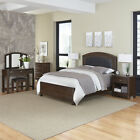 Crescent Hill Upholstered Bed, Night Stand, Vanity Set, and Chest