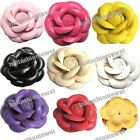 8color pick artificial leather handmade flower cabbage corsage Sewing Appliques