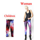 Dream star galaxy Print Leggings Kids + Adult Pants Parent-child outfit