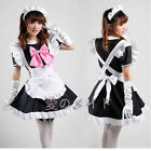 4 set Sexy Anime Cosplay Beer Lolita Dress Maid Outfits + apron + Headband + Bow
