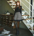 Korean Style Fashion Spring  Elegant Womens Long Sleeve Black Autumn Mini Dress