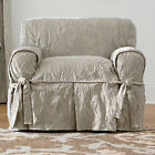 Matelasse Damask Chair Cover