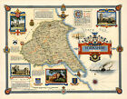 Yorkshire East Riding 1947  Pictorial Map Reprint