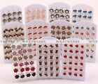 Mixed Lot Wholesale Women/Girls Alloy Earrings Ear Studs Owl/Dimond Design GBW