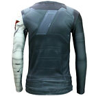 Winter Soldier Bucky Barnes Long Sleeves  T-shirt  Captain America Costume
