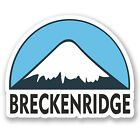 2 x 10cm Breckenridge USA Ski Snowboard Vinyl Sticker iPad Laptop Luggage #5158