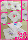 6/12 PCS Chinese embroidery girls/lady's handkerchief gift wedding handkerchiefs