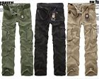 Simple Style Men's Casual Cargo Pants Popular Multi-pocket Trousers Jeans Pants