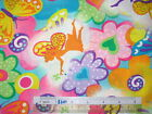 Choose design size * Pixie Garden butterfly paisley fairy cotton quilting fabric