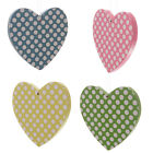 Polka Dot Wooden Heart Decorations
