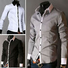 New Mens Fashion Luxury Casual Style Dress Shirts 5Colors