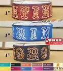 Leather Bracelet with Name - Wristbands for Men - Leather Custom Cuff - 1 inch