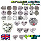 22mm & HEART Stainless Steel Back Plate Disc *30mm Memory Floating Charm Locket