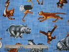 *Choose design - Safari Jungle zoo animals children cotton quilting fabric