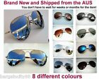 New M Unisex Aviator Sun-Glasses Silver Mirror Spring Hinge Polarized or No Pola