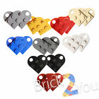 LEGO 4x Coupling Plates, Modified 3x2 with Hole 3176 Heart Charm - Choose Color