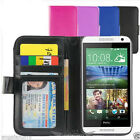NEW Leather Wallet Case Cover for New HTC ONE MINI 2 (M8)