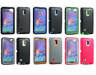 Hybrid Triple Layer Case for New Samsung Galaxy Note 4 IV - Built In Screen