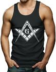 Freemason Logo - Square & Compass Symbol Men's Tank Top T-shirt