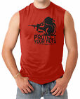 Protect Your Nuts - Military Funny Guns Men's SLEEVELESS T-shirt