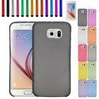 Plastic Slim Semi-transparent Hard Back Cover Case Skin For Samsung Galaxy S6