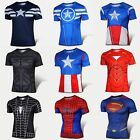 Superhero Casual Comics Costume Cycling Tee T-Shirts Short Sleeve Bicycle Jersey