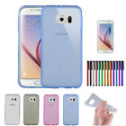 Durable Slim Crystal Clear TPU Back Case Skin Cover For Samsung Galaxy S6 5.1""