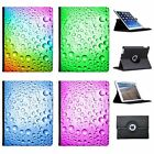 Coloured Water Droplets Folio Cover Leather Case For Apple iPad
