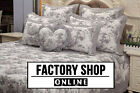 Brand New! 100% Cotton Classic French Toile De Jouy Patchwork Bedspread Grey Set