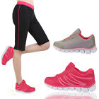LADIES SHOES GYM SPORTS AEROBICS WOMENS JOGGING RUNNING FITNESS LACE UP SIZE UK
