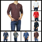 New Hollister by Abercrombie Men Buena Park Henley Long Sleeve T-SHIRT Muscle