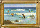 Cape Cod OCEAN SURF Oil Paining on Giclee 20x30 Framed Canvas **SALE