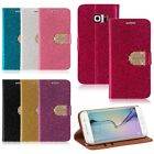 For Samsung Galaxy S6/S6 Edge Bling Flip Wallet Card PU Leather Stand Case Cover