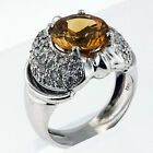 18kt Gold Citrine and Diamond Ring 50MAI