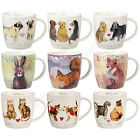 Churchill Alex Clark Squash Shaped Mug Animals Bunting Cat Dog Wildlife Mug