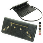 New Ziant Motor Tri-fold wallet Clutch Shoulder bag purse Real Lambskin Leather