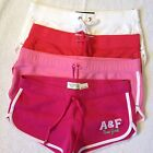 NWT Abercrombie & Fitch Women's Curved Hem Shorts--Pink,White,light Red, Size M
