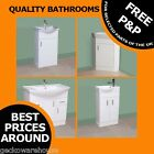 White Bathroom Vanity Unit Furniture With Cloakroom Basin Sink Soft Close Doors