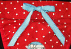 LULIBOOS DESIGNER DOG PANTY BRITCHES DIAPER WHITE & RED DOT COTTON BLUE TRIM