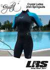 NEW Crystal Ladies Spring suit Wetsuit by CBI short arm & Leg 2mm