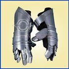 KNIGHT GAUNTLETS Steel and Leather.