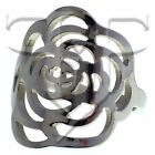 Womens Rose Ring | Stainless Steel Rose Flower Ring Size 6, 7, 8, 9, 10 Jewelry