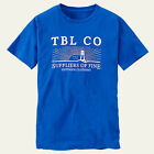 Timberland Men's Short Sleeve Lighthouse Graphic Blue T-Shirt Style #A11D1